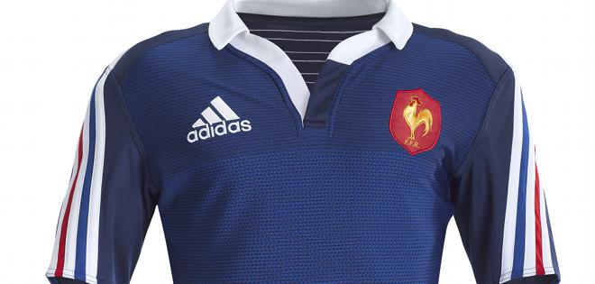 adidas d voile le nouveau maillot de l 39 quipe de france de rugby. Black Bedroom Furniture Sets. Home Design Ideas