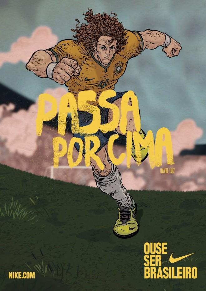 Ose être Brésilien - Poster - David Luiz