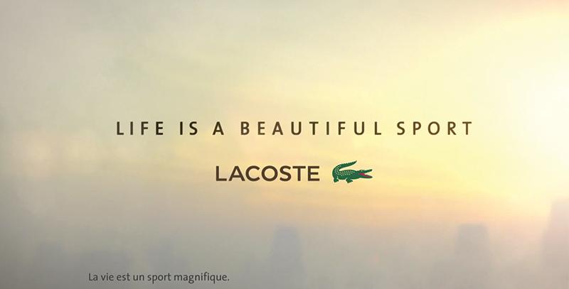 life is a beautiful sport le nouveau film de lacoste. Black Bedroom Furniture Sets. Home Design Ideas