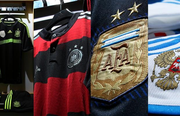 Adidas d voile les maillots ext rieurs de l 39 espagne de l 39 allemagne de l 39 argentine et de la - Coupe du monde espagne 2014 ...