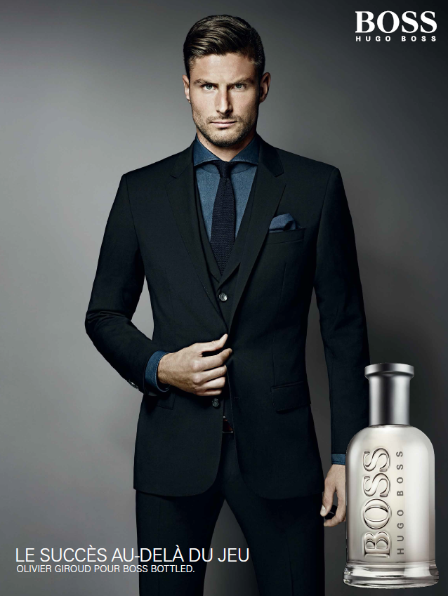 olivier giroud en d dicace paris pour boss parfums. Black Bedroom Furniture Sets. Home Design Ideas