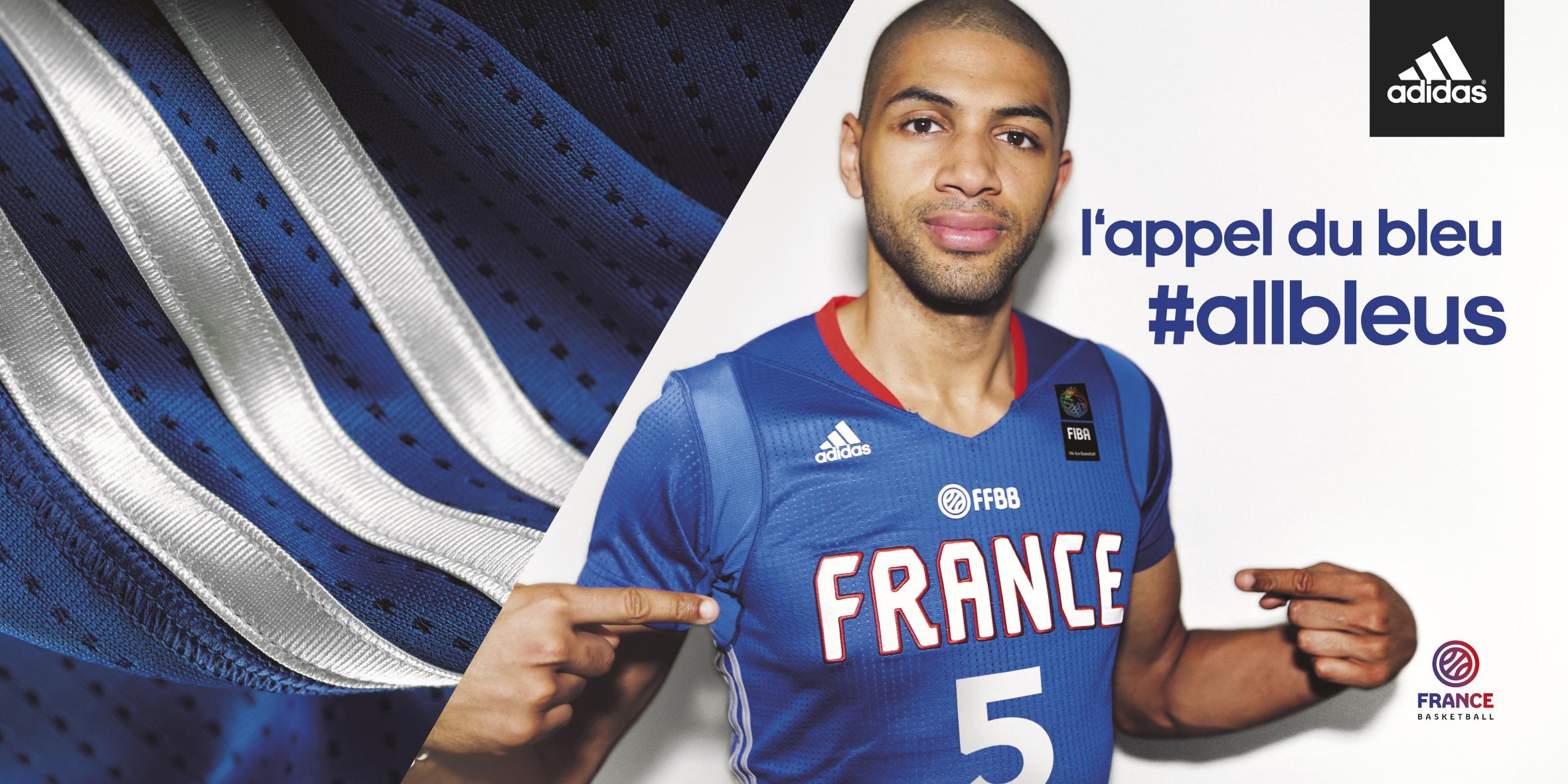 L Equipe De France De Basket Devoile Son Maillot Allbleus