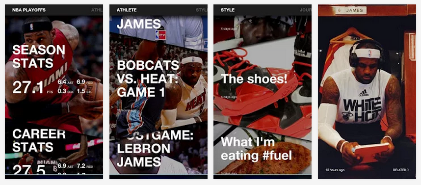 LeBron app screenshots