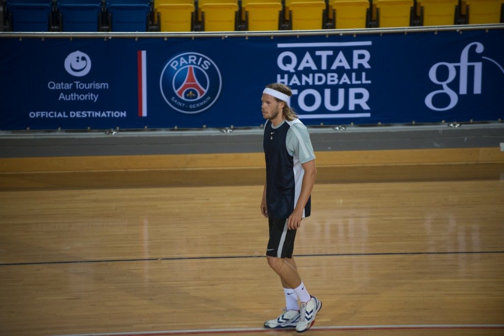 Paris Saint-Germain Handball training at Aspire Doha.