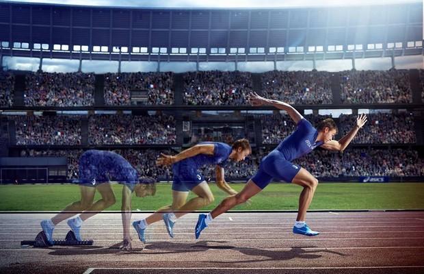 maillot équipe de france athlétisme asics