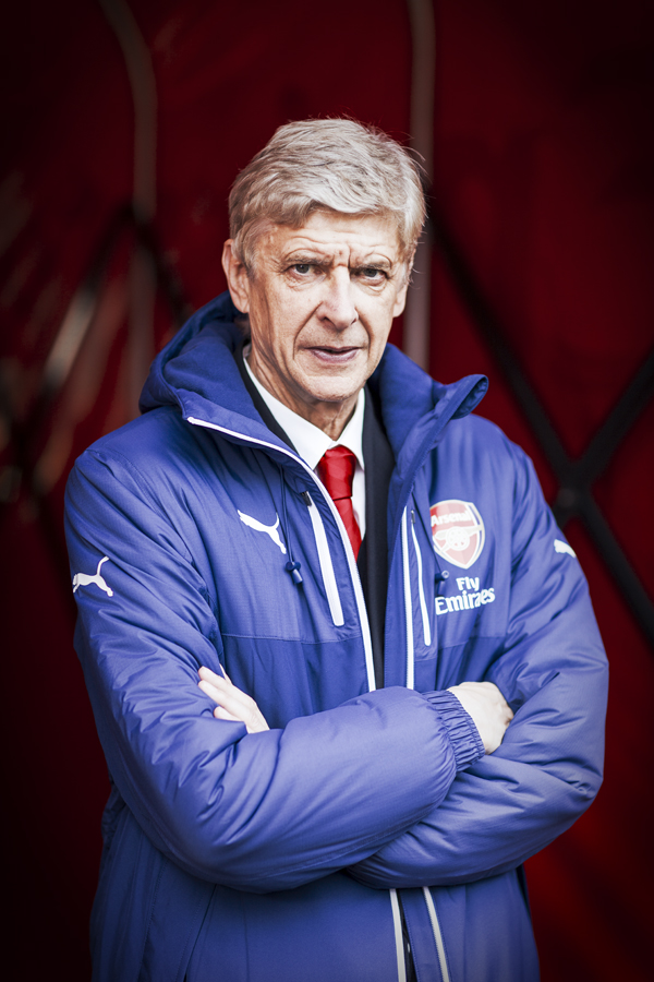 Arsène Wenger wears the new PUMA Bench Jacket