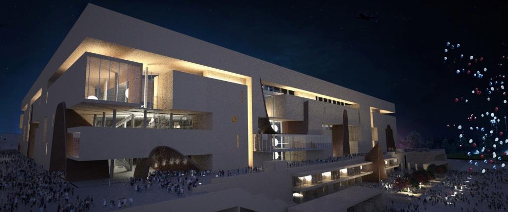 grand-stade-ffr_facade-ouest-nuit