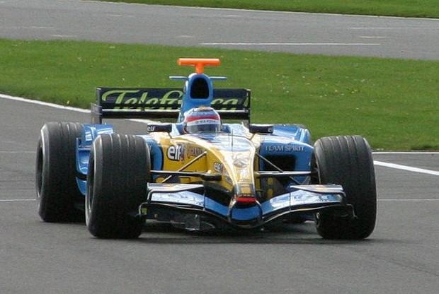 Fernando Alonso avec la Renault en 2003