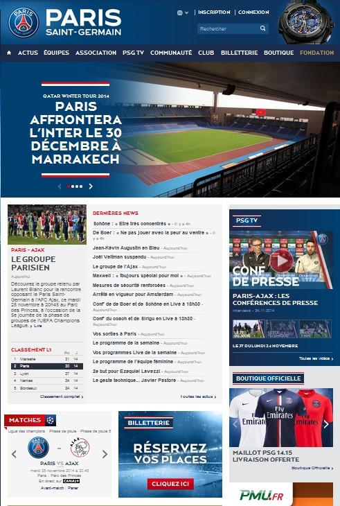 site PSG