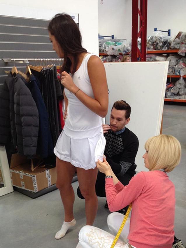 Alizé Lim fitting @le coq sportif