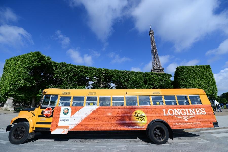 Longines bus Tennis Roland-Garros