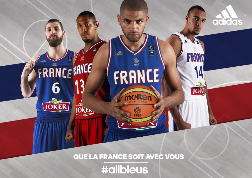 key visual maillot équipe de france de basketball adidas