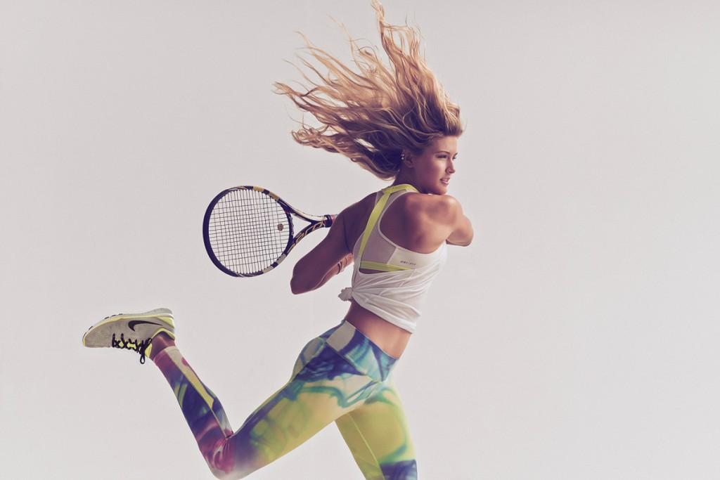 Eugenie Bouchard dans la publicité pour le Nike Lava Tight