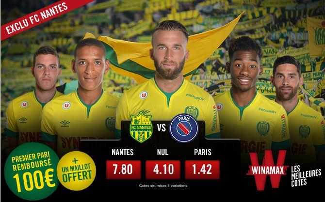 exclusivité pour les paris sportifs sur le Nantes FC