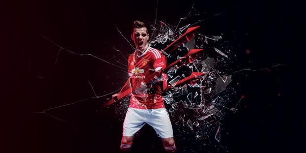 Schneiderlin-nouveau-maillot-manchester-united-adidas