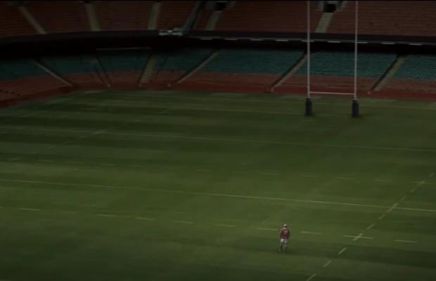 Gareth Thomas sur un terrain de rugby