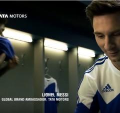 Lionel Messi dans le dernier clip de Tata Motors