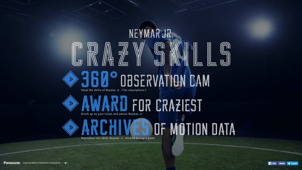 Neymar Jr. Crazy Skills Panasonic