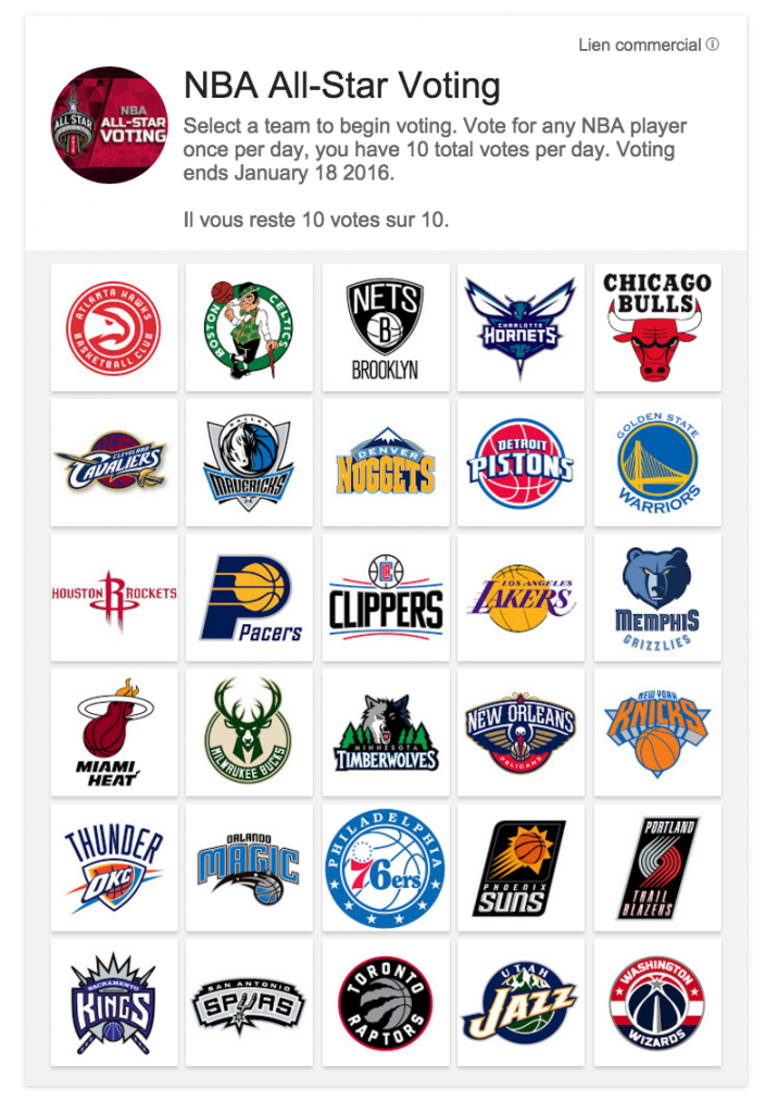 NBA All Star Game Voting
