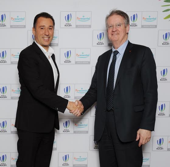 Marco Pacchioni et Bernard Lapasset lors de l'officialisation du partenariat