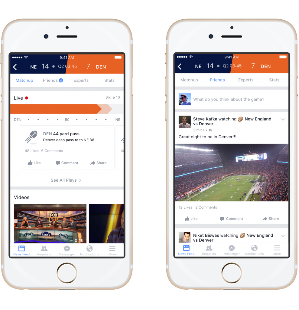 Screenshot 1 Matchup and Friends - Facebook Sports Stadium