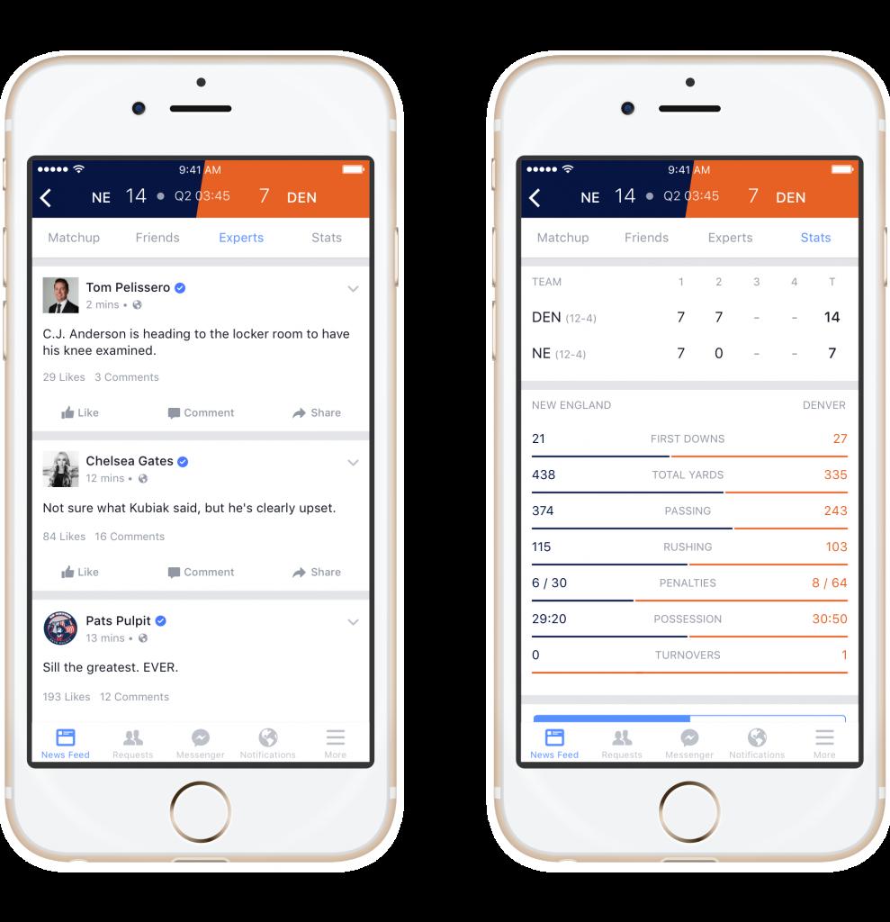 Screenshot 2 Experts and Stats - Facebook Sports Stadium