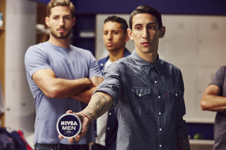 Angel Di Maria, Kevin Trapp & Marquinhos dans la nouvelle publicité NIVEA MEN