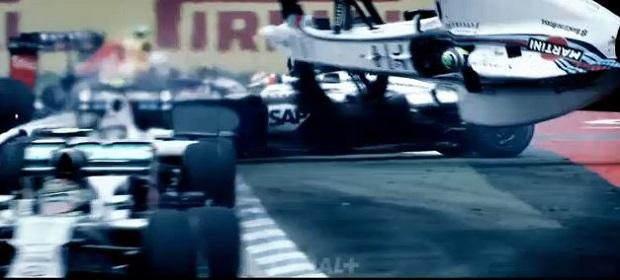 L'accrochage Massa-Magnussen au premier virage du Grand Prix d'Allemagne 2014 Canal+
