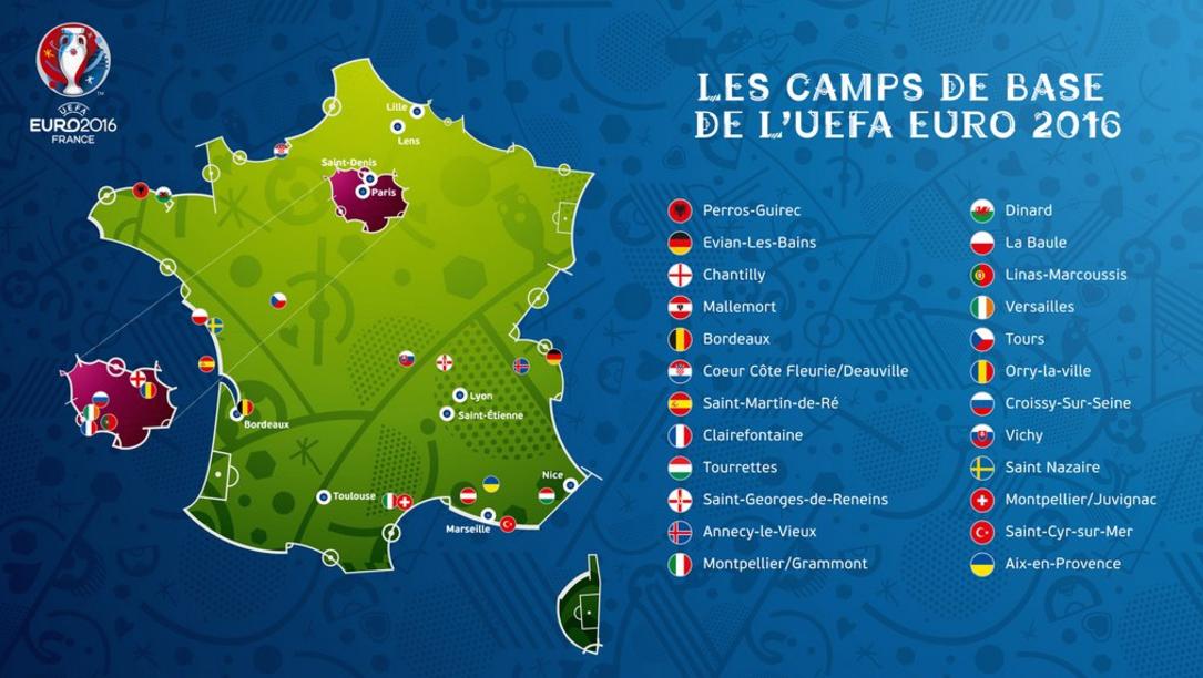 Camps de base Euro 2016