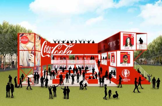 Fan zone coca cola euro 2016