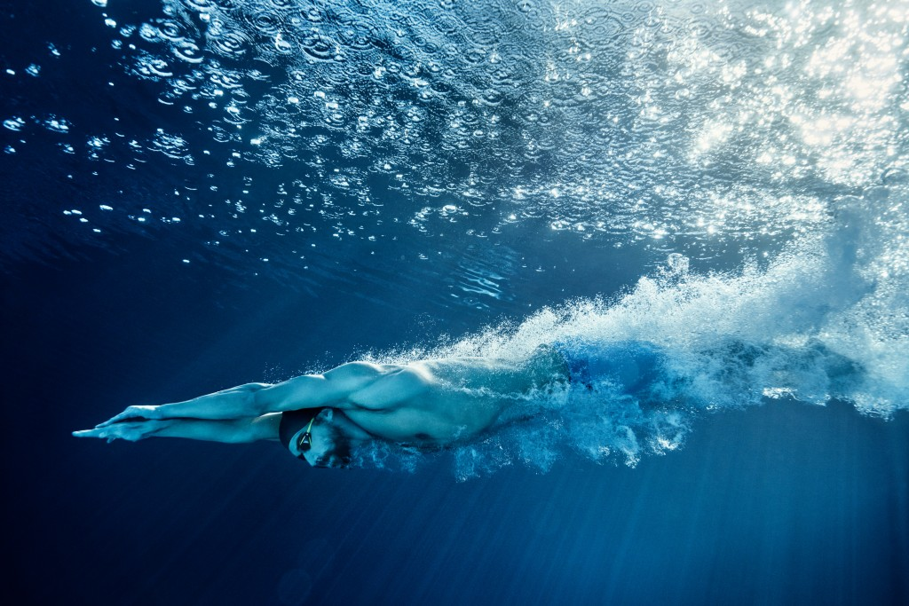 Phelps sous l'eau pour Under Armour
