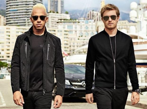 Lewis Hamilton & Nico Rosberg en Hugo Boss