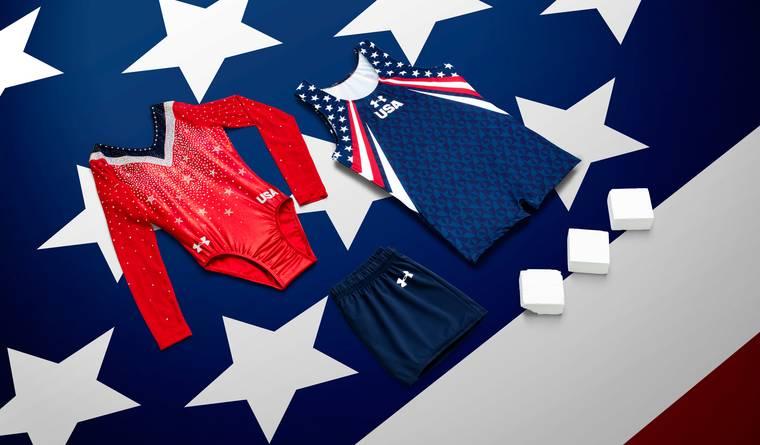 uniformes officiels des équipes de gymnastique des USA par Under Armour