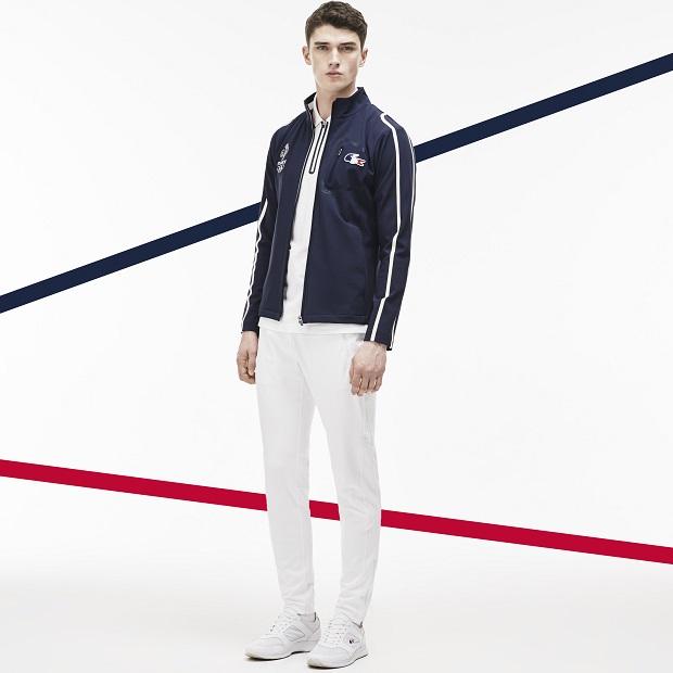 Lacoste et l'Equipe de France en bleu blanc rouge