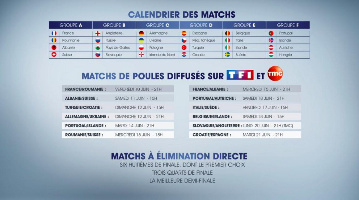 Calendrier TF1