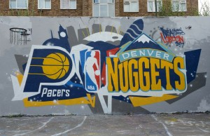 logo des Denver Nuggets et des Pacers d'Indiana - NBA Global Games London 2017
