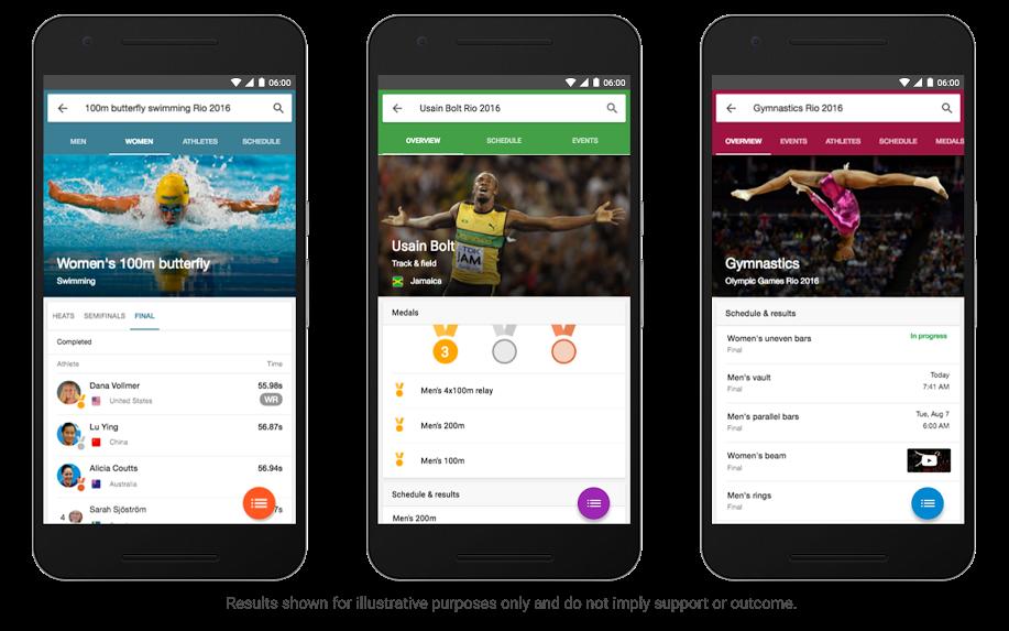 Google votre guide pour les JO de Rio 2016