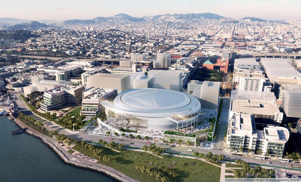 Golden State Warriors new arena Aerial Rendering