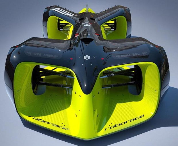 """Le """"Robocar"""" de la future Roborace, dont le design est signé Daniel Simon"""