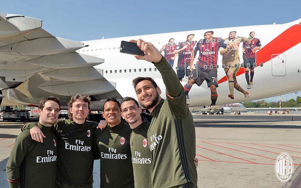 Emirates AC Milan joueurs A380