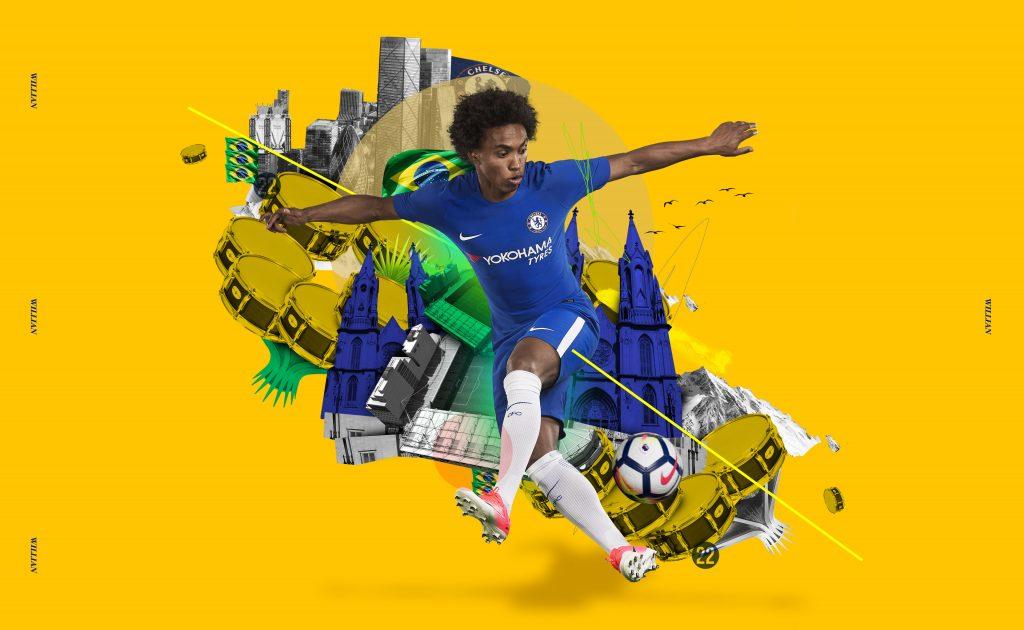 Willian - maillot domicile Chelsea 2017-18 - Nike Football