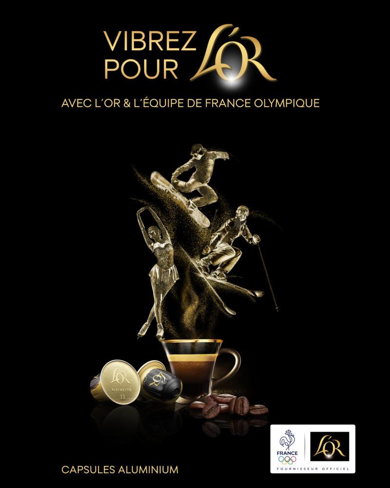 L'Or Café Jeux Olympiques 2018 publicité
