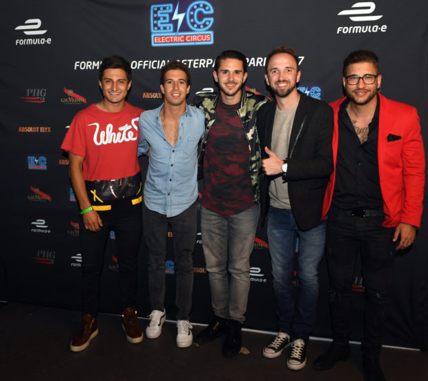 L'ELECTRIC CIRCUS : L'After Party de la Formule E avec ici les pilotes Mitch Evans, Robin Frijns ou encore Daniel Abt