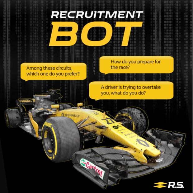Le bot du Renault Sport Formula One Team