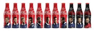 11 bouteilles Coca-Cola aux couleurs de l'Equipe de France