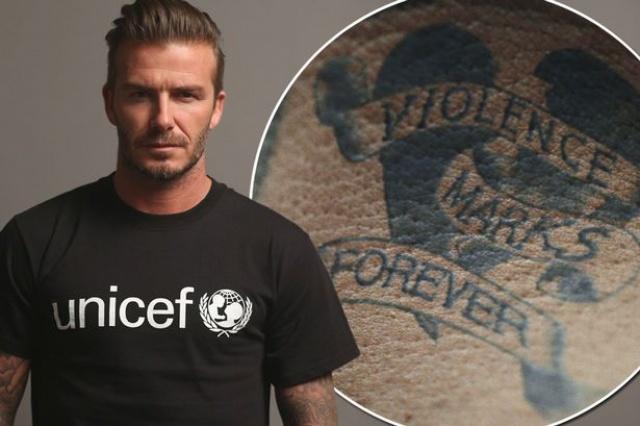 Beckham Unicef Tattoo