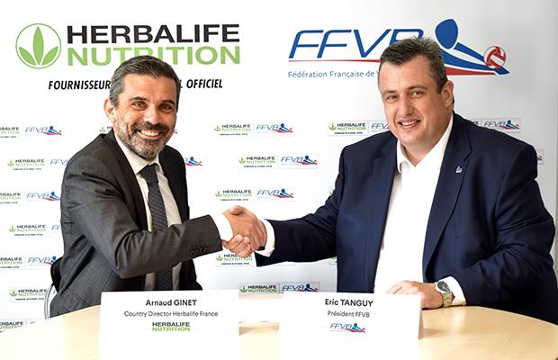 Herbalife signature partenariat FFVB