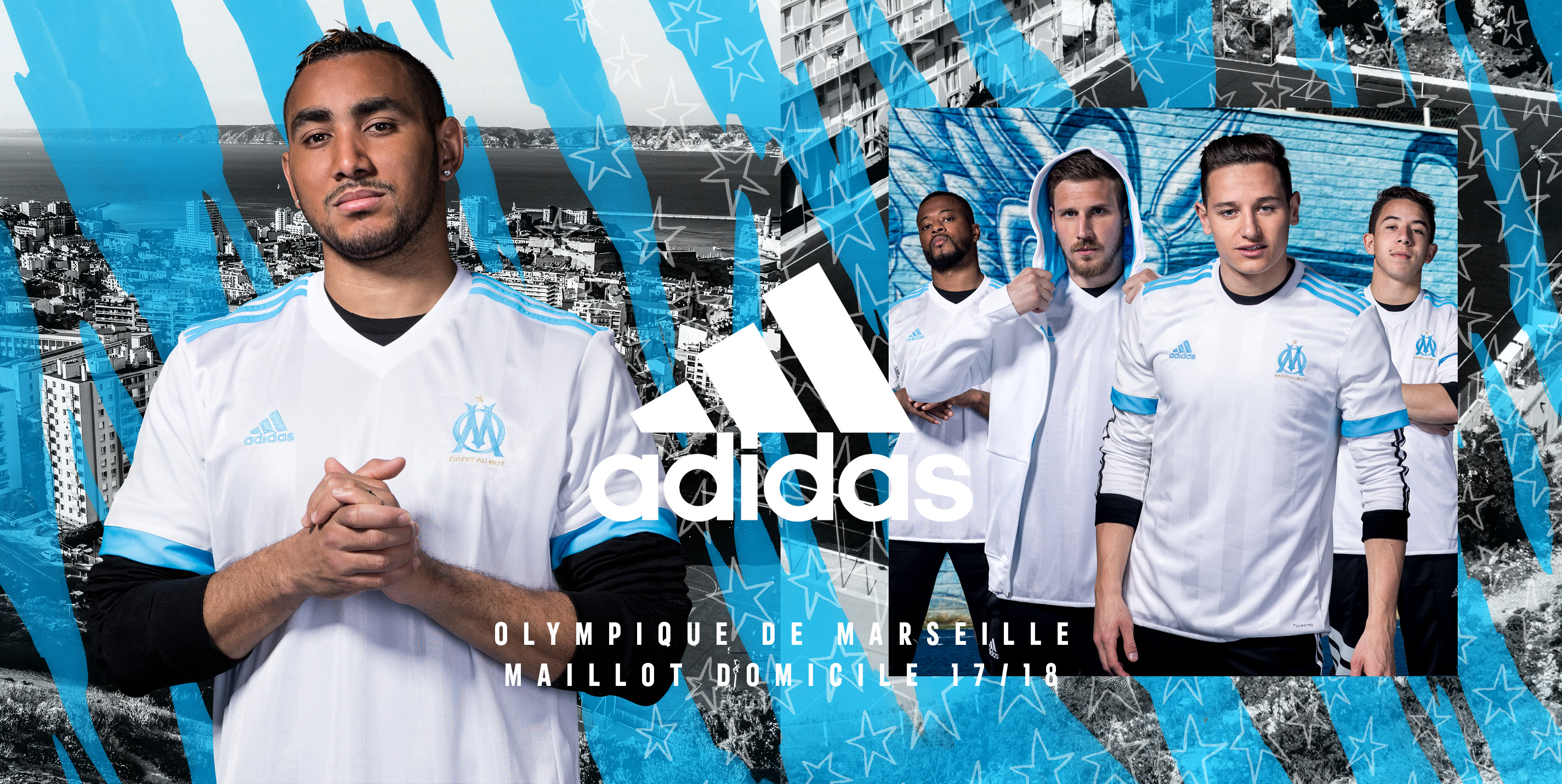 Maillot domicile OM 2017-2018 adidas football