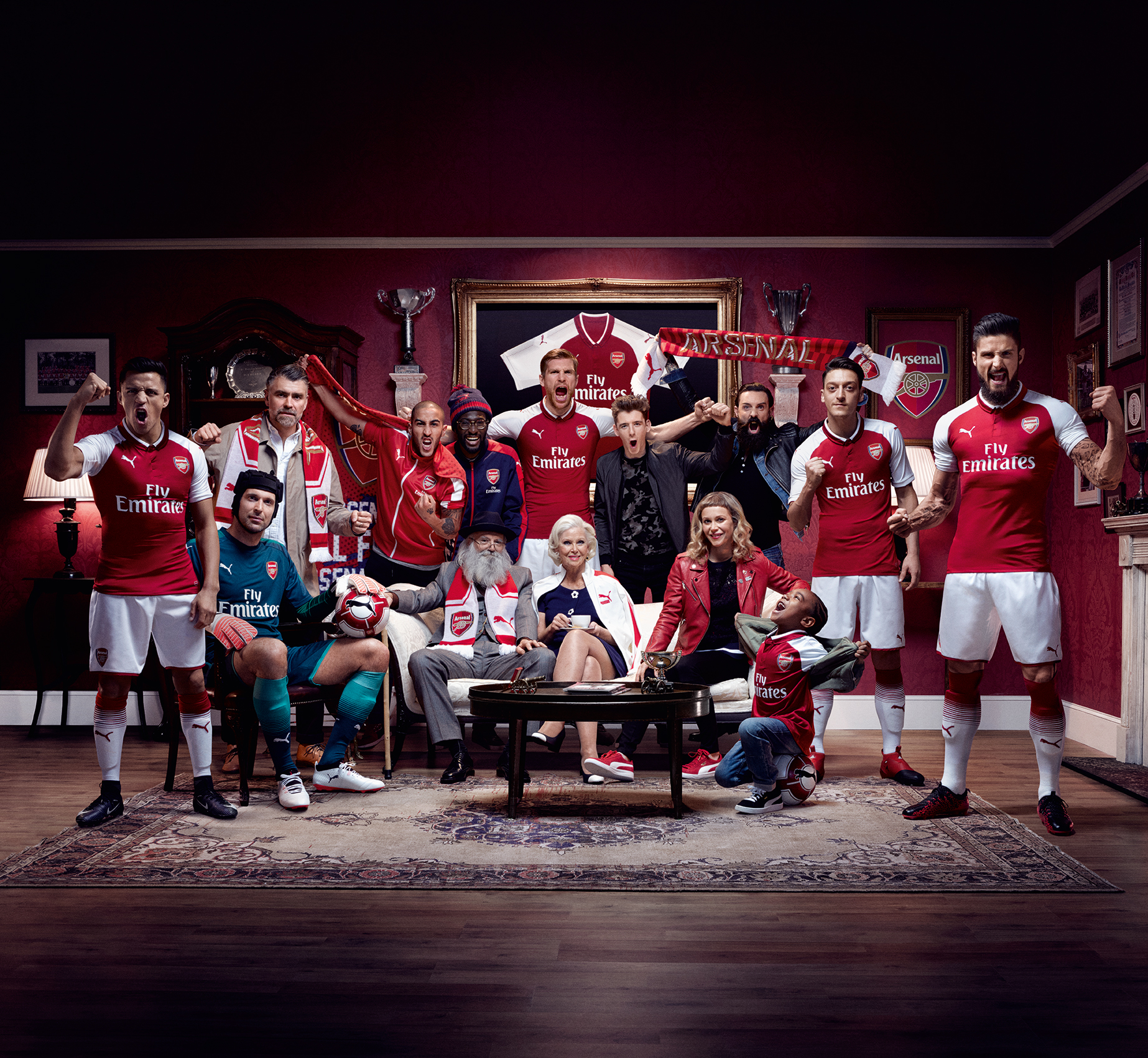 Arsenal FC Key Visual Home Jersey 17-18 Puma Football