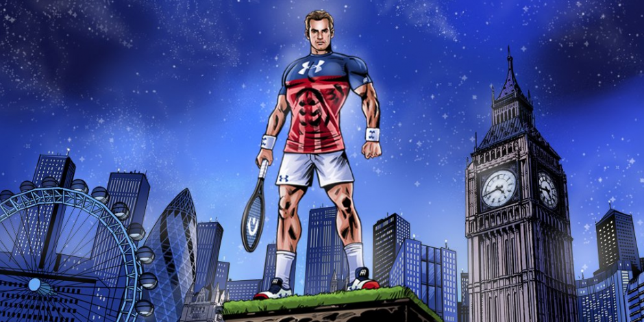 Andy Murray AEGON CHampionship Under Armour Comic character